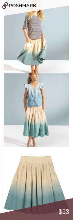 Ombre skirt Mid length ombre skirt, 100% cotton. Beautiful, comfortable, and great for any occasion this skirt is a all around win! kids on the moon  Bottoms Skirts