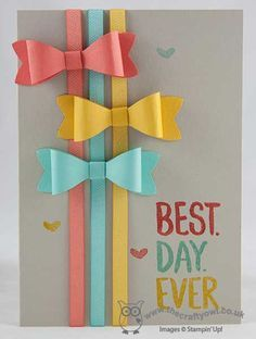 stampin up bows cards - Buscar con Google
