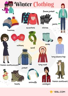 Winter Clothes vocabulary