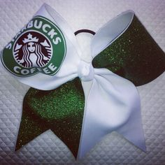 Starbucks Cheer Bow by AlwaysGlitzBows1 on Etsy, $18.00
