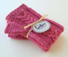Cable Maroon Fingerless Arm Warmers by Latur on Etsy