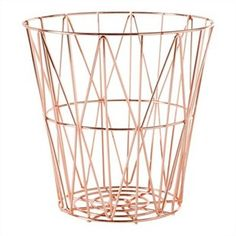 Small Diamond Weave Basket - Rose Gold