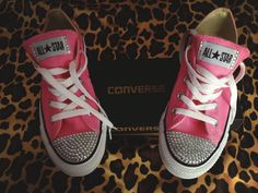 Rhinestone Converse Shoes by ConverseCustomized on Etsy, $65.00