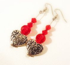 Long Floating red heart SALE length love by SevenGypsiesJewelry,
