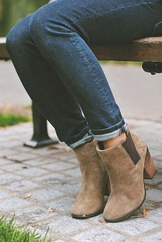 Versatile suede ankle booties