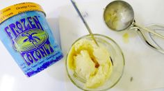 Made from fair trade ingredients, raw coconut milk agave Raw Coconut, Coconut Ice Cream, Gluten Free Ice Cream, Vancouver Food, Dairy Free Alternatives, Lactose Free, Nut Free, Icing, Frozen