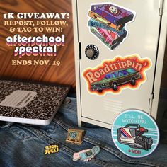 #Repost @afterschoolspectral  1K GIVEAWAY To celebrate hitting a thousand followers we're giving away a care package that includes the 3 enamel pins 2 stickers and patch that you see in the pic above! To enter the contest just REPOST THIS FOLLOW & TAG US! Thanks for the support everyone!  #design #illustration #graphicdesign #punk #pingame #pinstagram #flair #lapelpin #pincommunity #pinsofIG #retro #70s #80s #90s #vhs #pintrill #nostalgia #patchgame #fall #merch #merch #enamelpin #vintage…