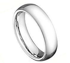 Wedding Bands by Cohro Cobalt High Polish Classic Domed 5mm Wedding Band Ring