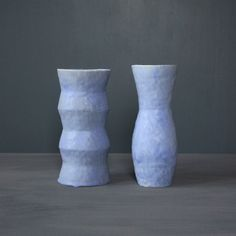 Pale Blue Vases by Giselle Hicks