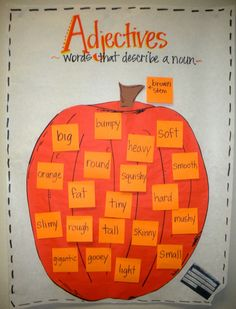 We could use this to work with adjectives after reading a pumpkin book!