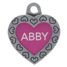 TagWorks® Designer Collection Small Heart Personalized Pet ID Tag is more than a just a pretty charm for your pet's collar—it's personalized you can easily be contacted if you and your pet are separated. $11.00 at PetSmart.