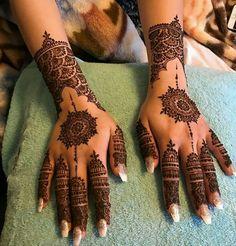 Most Elegant And Adorable Bridal Mehndi Designs Full Hands 2019 Henna Hand Designs, Eid Mehndi Designs, Pretty Henna Designs, Mehndi Designs Finger, Mehndi Design Photos, Wedding Mehndi Designs, Mehndi Patterns, Latest Mehndi Designs, Simple Mehndi Designs