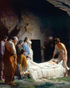 Carl Heinrich Bloch - Copenaghen 1834 - 1890: Entombment of Christ