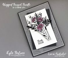 VIDEO: Wrapped Bouquet Bundle - Kylie Bertucci Wish You Well, Stamping Up Cards, Card Sketches, Paper Cards, Card Templates, I Card, Kylie, Cardmaking, Stampin Up