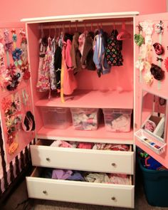 Be A Clever Accessory Organizer With These 24 Ideas. Hair Accessories  StorageBaby Girl AccessoriesTv ArmoireNursery ...