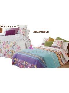 Summer Bedspread Fresh with pillowcases - Double face - 250X270cm art FRESH