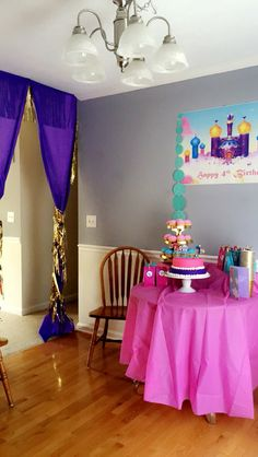 Shimmer and shine party decor idea.