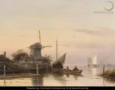 Dutch estuary - Charles Henri Joseph Leickert