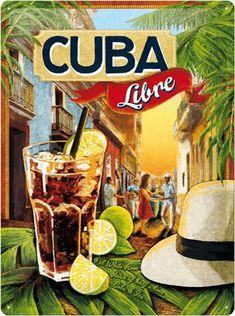 Cienfuegos, Vintage Cuba, Paris Vintage, Vintage Tin Signs, Varadero Cuba, Air France, Cuba Libre Recipe, Family Adventure Holidays, Cuba Libre Cocktail
