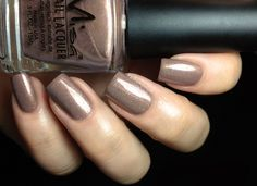 Misa -   Live Without Knowing is a light cool taupe with tons of gold and pink metallic shimmers.
