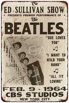Poster Dos Beatles, Die Beatles, Band Posters, Rock Posters, Pin Ups Vintage, Vintage Ads, Abbey Road, Motif Music, All My Loving