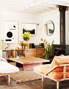 the inspiring living room of pop & scott's founders. / sfgirlbybay