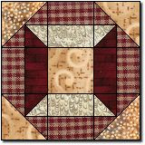 Wood Box Pattern: this block would make a cute mug rug or pot holder for a quilter friend!