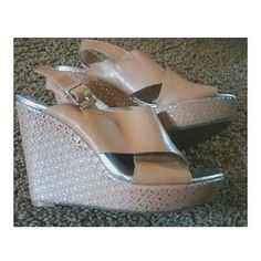 Jessica Simpson wedges  ⭐Twice worn.  ⭐Are about 5.5 inches.  ⭐Shoe size is a 7. ⭐offers accepted. Jessica Simpson Shoes Wedges