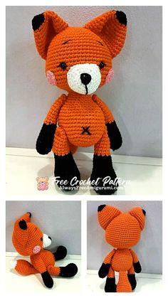 Free Crochet, Crochet Hats, Step By Step Crochet, Cute Fox, Learn To Crochet, Free Pattern, Crochet Patterns, Etsy, Amigurumi