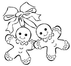 gingerbread couple coloring page