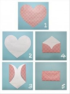 Heart + folding = Envelope
