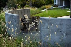 Curved concrete walls. Northern California Landscaping - Sausalito, CA - Photo Gallery - Landscaping Network