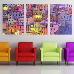 Living room. My design inspiration: Colorful Town Panoramic on Fab.