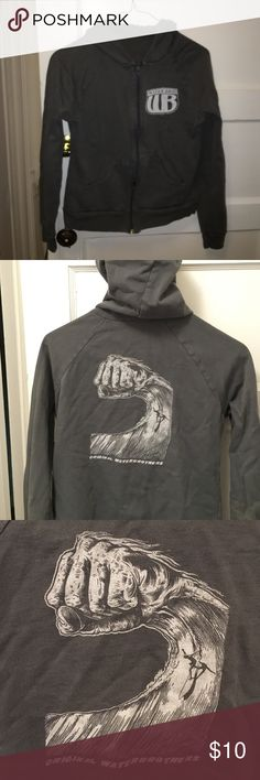 WaterBrothers Zip Up Hoodie Super cute surf hoodie. This brand was local in Newport, RI but has been bought and is getting very big. WaterBrothers Tops Sweatshirts & Hoodies