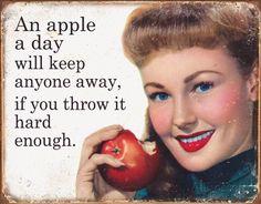 Ephemera - Apple a Day Tin Sign Tin Sign
