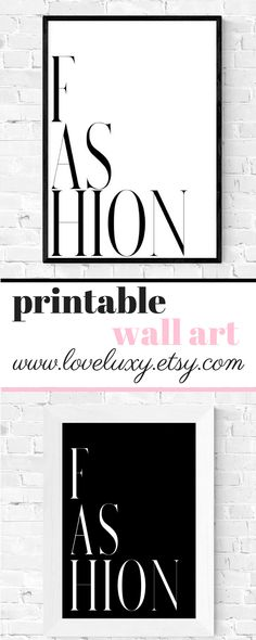 Check out stylish, printable fashion wall art at LoveLuxy, Etsy. The perfect decor for your bedroom, kitchen, living room, office, etc. Interior design | Bedroom Decor | Office Decor | Office Goals | Printable wall art | Wall Art | Bedroom Design Ideas | Decor inspiration | Bedroom Design Inspiration | Typography wall art | Fashion wall art | Stylish Bedroom | Stylish bedroom Decor | home decor | bedroom decor #bedroomideas #decorideas #bedroom