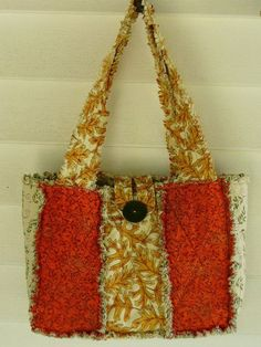 Items similar to Fall Foliage New Style Rag Quilt Purse RQQ on Etsy Quilted Purse Patterns, Patchwork Bags, Quilted Bag, Quilt Patterns, Patchwork Ideas, Bag Patterns, Fabric Handbags, Fabric Bags, Quilted Handbags
