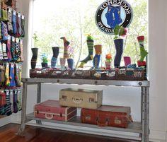 Fun sock display at Sockshop Telegraph