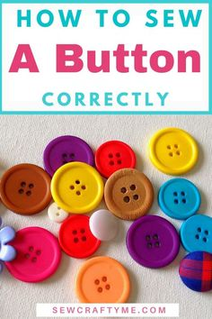 Learn how to sew buttons the easy way with this sewing tutorial. You don't have to worry if the button on your garment came off and you have never sewn before. This sewing hack will take you through easy instructions and photographs to teach you button sewing in a simple way. You will learn how to sew a button with 2 holes, three holes and a shank.