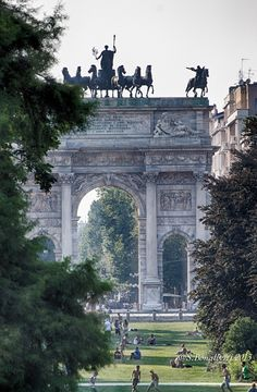 Arco della pace, Milan, province of Milan, Lombardy, Italy