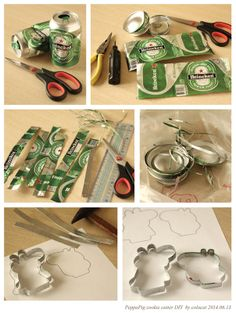 I have to try this! Make your own cookie cutters out of beer cans? I'll report back!   (Note to self...gotta find a way to seal edges on top and to attach at seam)