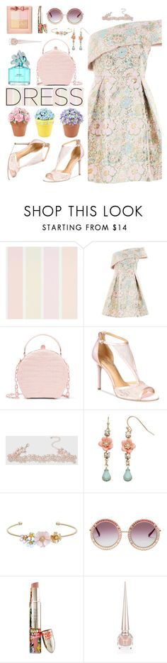 """""""Dreamy Dresses"""" by hubunch ❤ liked on Polyvore featuring Topshop, Nancy Gonzalez, Badgley Mischka, Dorothy Perkins, LC Lauren Conrad, Marc Jacobs, Teeez, Christian Louboutin, Physicians Formula and dreamydresses"""