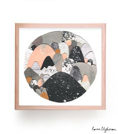 Laura Blythman Moonlight Print - Collage Craft Inspiration