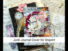Maria created this wonderful junk journal utilizing eight envelopes and embellished the quilt wi. Journal Covers, Book Journal, Album Maker, Space Artwork, Journal Challenge, Book Projects, Craft Projects, Scrapbook Paper, Scrapbooking