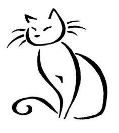 Resultado de imagem para cat line drawing tattoo