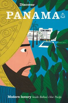 Discover Panama by Artist Unknown (1960 ca.) |  Shop original antique posters online: http://www.internationalposter.com/