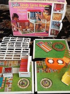 1969 Barbie Lively Livin' House Incomplete Set by Mattel Antique   eBay