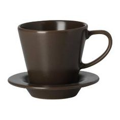 kalaset tasse expresso et soucoupe acier inoxydable caf chaud paroi et ikea. Black Bedroom Furniture Sets. Home Design Ideas