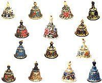 Christmas Decor Paper Mache Ornaments Hanging Bells Size: 1.7 inches x 1.8 inches by ShalinIndia, http://www.amazon.com/dp/B0009WFUCW/ref=cm_sw_r_pi_dp_i4JGqb0JWXAPZ