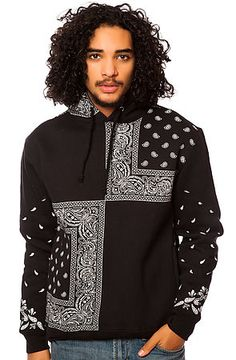 The Bandana Squares Hoody in Black by LATHC